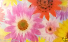 """LENTICULAR 1970'S FLOWERS! 3D! 3 1/2"""" X 5""""! 50 SHEETS! KEEP 3D PVC PICTURE! NEW"""