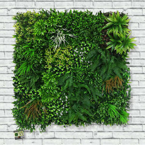 Artificial Living Wall Spring Hedge Plant Panel In / Outdoor UV Stable 100x100cm