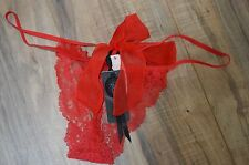 Victoria's Secret panty designer collection thong sheer red bow small S