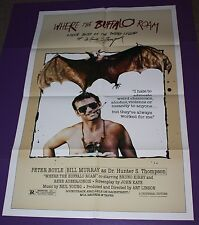 WHERE THE BUFFALO ROAM MOVIE POSTER ONE SHEET BILL MURRAY HUNTER S. THOMPSON