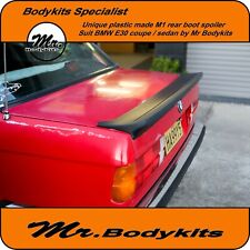Plastic made M-Tech 1 M1 Style rear boot spoiler for BMW E30 series Coupe/4 Door