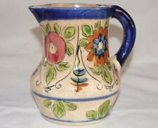 RARE VINTAGE BEAUTIFUL FLORAL HAND PAINTED  PITCHER  JAPAN
