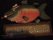 WOOD DECOR* OOP Large Fishing restaurant bar pub beer Home Wall Art Plaque 3D