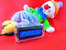 Digital LCD Electronic Clock DIY Kit Light Control time Alarm thermometer shell