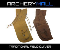 Summit Suede Leather Archery Field Quiver - Right or Left hand