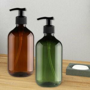 4x Hand Pump Plastic Bathroom Liquid Soap Normal Dispenser Shampoo Bottle 500ML