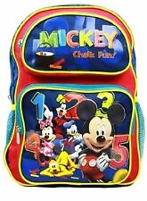 "Disney Mickey Mouse and Friends Chalk Fun School 14"" Backpack Day Bag-New!"