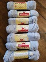 Vintage Spinnerin Yarn 7 Skeins Gray Lt. Charcoal SOFT 1 oz 190 yds NOS NICE