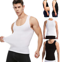 Mens Weight Loss Body Tummy Control Shapers Slimming Shirt Compression Vest Tank