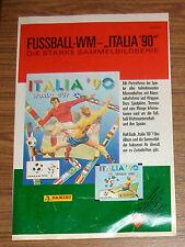 Seltene Werbung Panini FUSSBALL WM Italia '90 Sticker Sammelbilder 1990