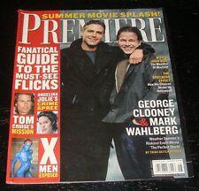 PREMIERE magazine 2000, George Clooney, Mark Wahlberg, X-Men, Angelina Jolie