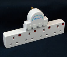 Individually Switched Surge Protected 4 Socket Adapter Plug UK Mains 13 Amp