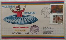 FDC AIR INDIA MONTREAL BOMBAY PHILATELIC FIRST FLIGHT 1982 CANADA STAMP RARE