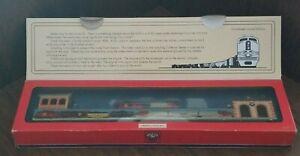 Schylling Lionel Train Station Tinplate Wind Up Toy Train Santa Fe 2001 w/ Box