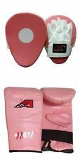 Pink Ladies Focus pads and Bag Mitts size Large set Hook & Jab Punching kick