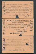 QYA65t EAST AFRICA 3 Cycle tickets 1950s Butere Karumo Lake Kioga Marine Service