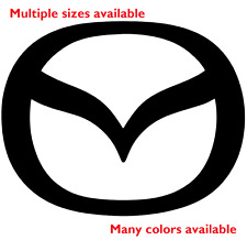 Mazda Die Cut Decal | Emblem logo center cap stickers