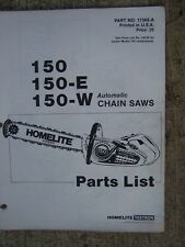Homelite 150 150-E 150-W Automatic Chain Saw Parts List SEE MORE IN OUR STORE  U