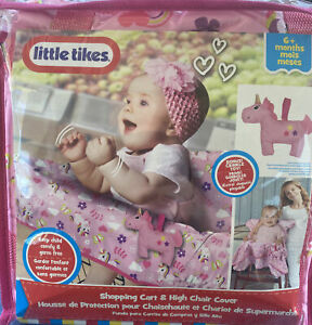 Little Tikes Infant Shopping Cart High Chair Cover  New 6+ Months Pink Unicorn
