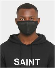 New Mens Saint Morta Saint Morta Men's Grilled Mesh Face Mask Black Purchased Ha