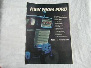 1965 Ford 6000 5000 4000 3000 2000 tractor magazine print ad poster