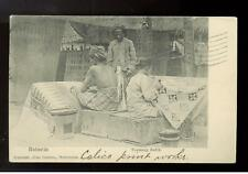 1908 Netherlands Indies Picture Postcard Cover Textile
