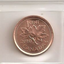 "2010 ""MINT LOGO"" CANADIAN/CANADA 1 CENT COIN UNC FROM ROLL"