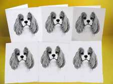 Cavalier King Charles Spaniel Dog Notelets / Blank Cards pack of 6, A6