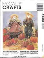 "7808 UNCUT McCalls SEWING CRAFT Pattern Halloween Scarecrow Pumpkins 21"" Harvest"