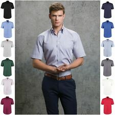 Mens Short Sleeve Oxford Shirt Business Work Smart Formal Casual Dress Shirt