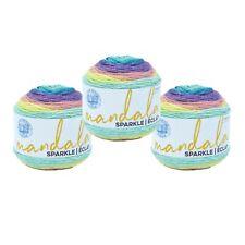 Lion Brand Yarn 527-330 Mandala Sparkle Yarn, Serpens (Pack of 3 cakes)