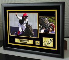 """Frankie Dettori Golden Horn Framed Canvas Tribute Print Signed Ltd """"Great Gift"""""""