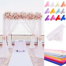 Marriage Yarn Tulle Roll Crystal Organza Fabric Event Party Decor Wedding Supply
