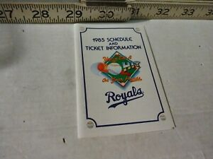 1985 Kansas City Royals Baseball Pocket Schedule- Sports Collectibles
