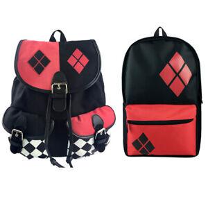 Suicide Squad Cosplay Harley Quinn Schoolbag Comics Knapsack School Bag Backpack