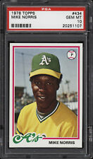 1978 Topps #434 Mike Norris - A's - PSA 10 - 20251107