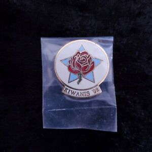 Vintage 1992 Kiwanis Rose Parade Float Enamel Hat Lapel Collector Pin Pinback