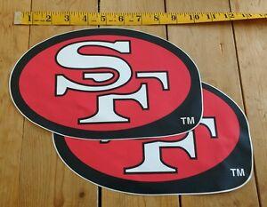 San Francisco 49ers NFL Football Decal Stickers Vintage Teams Licensed x2