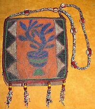 Antique Yoruba Beaded Diviner Shaman Necklace Shoulder Bag Pouch Nigeria, Africa