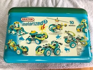 Erector #0262 Motorized Building Set, 10 Models in 1, Good condition, Used