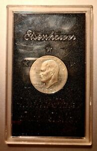 USA 1971 Eisenhower United States One Proof Dollar Silber / Silver