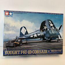 "SEALED Tamiya 1:48 Vought F4U-1D Corsair w/ ""Moto-Tug"" Model Plane Kit #61085"
