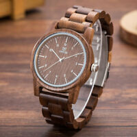 UWOOD 1007 Walnut Mens Wooden Watch Natural Wood Watch for Men Christmas Gift