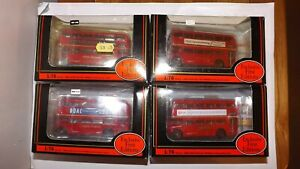 JOB LOT OF 4 X EFE LONDON TRANSPORT ROUTEMASTER BUSES 1:76 SCALE