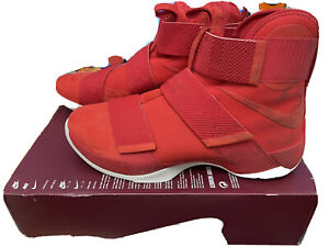 911306-600 NIKE LEBRON JAMES SOLDIER 10 SFG LUX Red Men's Size 12 Retail $140