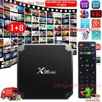 X96MINI Android 9.0 Pie Quad Core Smart TV BOX WIFI HDMI 4K HD USB Media Player