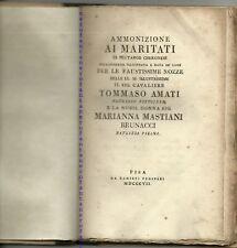 Nuptalia-Pisa-Ammonizione ai maritati . Plutarco Cher.-Nozze Amati-Brunacci 1807