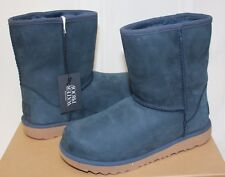 Ugg Kids Classic Short II 2 Waterproof Navy blue boots 1019646K NEW With Box