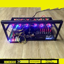 Mining Rig Kit (Plug+Play) 6 GPU slots, Open Case, PSU, CPU, SSD, Win 10 NO GPUs
