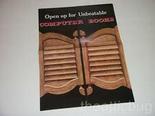 Open up for Unbeatable Computer Books ~ Brochure ~ Advertising ~ A4 Size